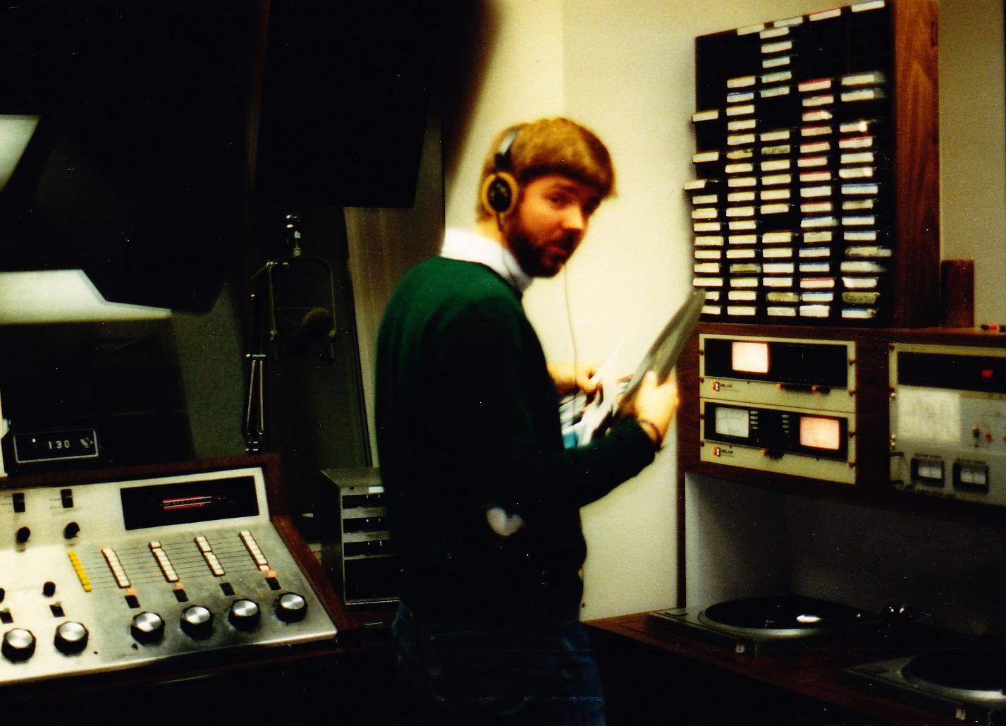 Dave in WDUB Studio