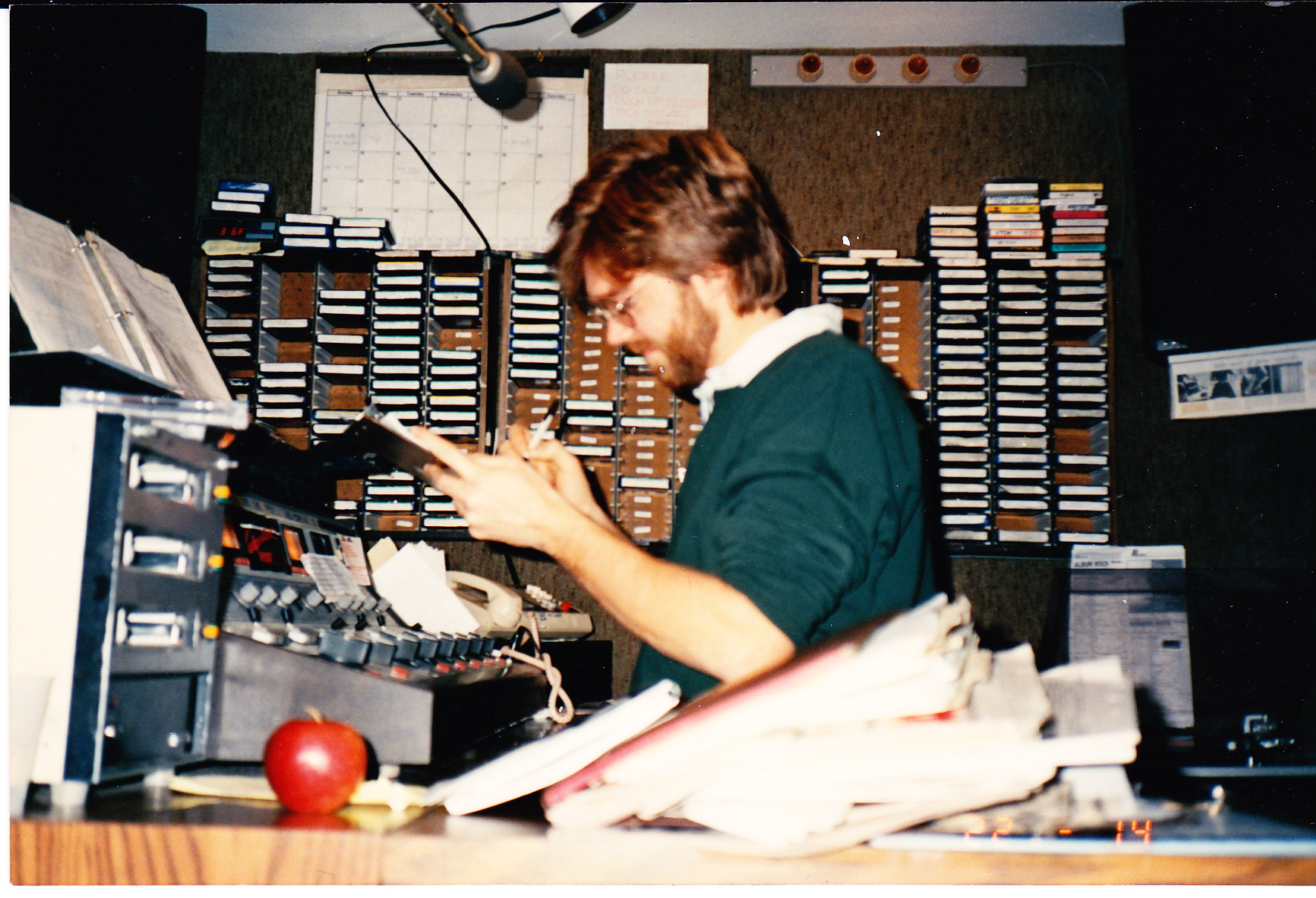 Dave in original WDST studio