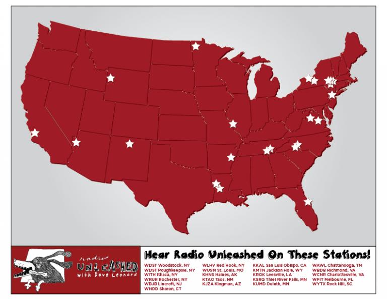 Radio Unleashed - USA Map